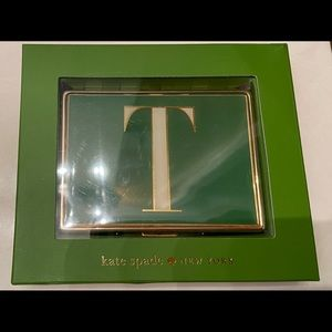 "✨Brand new: ""KATE SPADE monogram ""T"" card holder""✨"